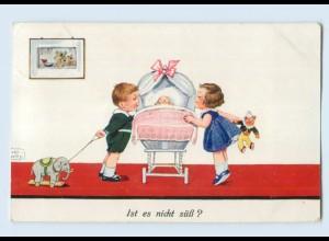 W9A84/ Kinder und Babay Spielzeug John Wills AK 1938
