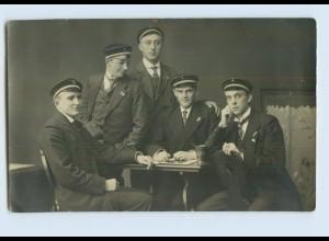 P3P31/ Studenten Studentika Privat Foto AK ca. 1920 (b)