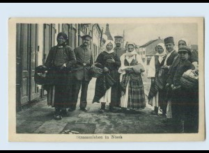 P3S24/ Nisch Straßenleben AK Serbie 1917