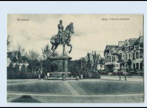P3S75/ Bremen Kaiser Friedrich Denkmal AK 1907