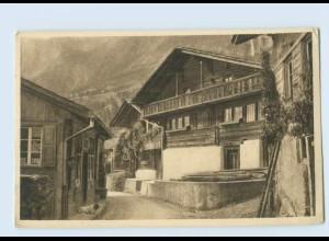 P3V60/ J. Elchlepp AK No. 19 Schweizer Bauernhäuser Häusergruppe in Brienz