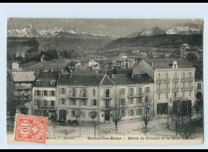 P3U51/ Thonon-les-Bains Hotel de France AK 1908