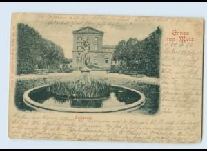 P3U65/ Gruß aus Metz Lothringen Esplanade 1899 AK