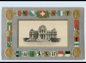 P3T88/ Lausanne Wappen Kantone Litho Präge AK ca.1912