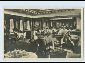W9B41/ Dampfer Bremen Sonnendeck-Restaurant Foto AK ca.1935