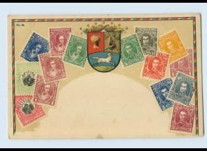 P4B17/ Venezuela Briefmarken Litho Präge AK ca.1905