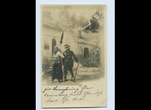 W9D13/ Häsnel und Gretel NPG Foto AK Märchen ca.1905