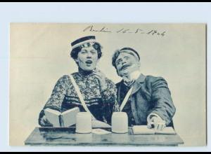 P4D42/ Studentika Studenten trinken Bier ca.1900