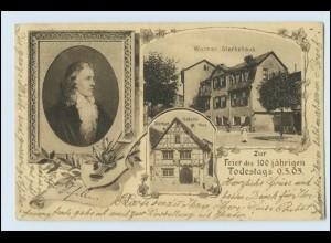 W5H08/ Weimar Fr. von Schiller 100 jährigen Todestag AK 1905