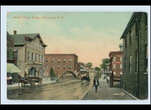 W5R81/ Plattsburg New York Bridge Street AK 1914 USA