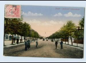 P4J03/ Ploesti Boulevard Independentei Rumänien AK ca.1912