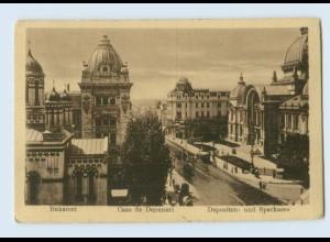 P4J02/ Bukarest Depositen- und Sparkasse Rumänien AK 1922
