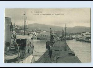 B832/ Spanien Algeciras Muelle de la Compania del Ferrocarril AK