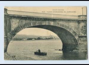 B826/ Spanien Irún Puente Internacional del Ferrocarril 1929 AK