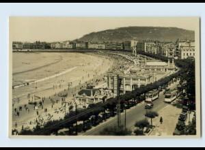 B806/ Spanien San Sebastian Vista general de la Playa Foto AK