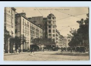 B804/ Spanien San Sebastian Plaza de La Alameda AK