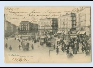 B790/ Spanien Madrid Puerta del Sol 1905 AK