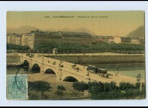 B789/ Spanien San Sebastian Puente de Santa Catalina 1915 AK