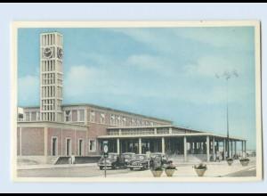 P4G96/ Leiden Station Bahnhof AK ca.1955