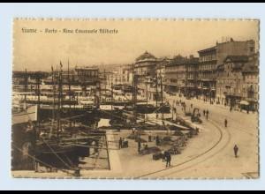 P4H79/ Fiume Porto Hafen Kroatien AK ca.1920