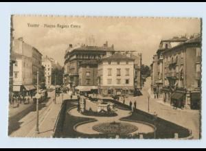 P4H78/ Fiume Piazza Regina Elena Kroatien AK ca.1920