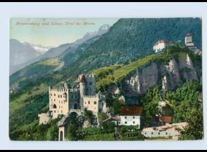 P4J60/ Brunnenburg und Schloß Tirol bei Meran AK 1906 Italien