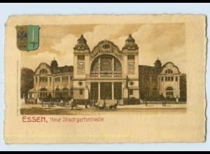 U8143/ Essen Neue Stadtgartenhalle mit Wappen Litho Ak 1916