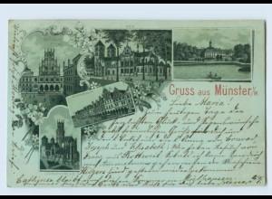 U8146/ Gruß aus Münster Litho Ak 1898