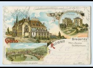 U8139/ Essen Gruß vom Ruhrstein Bredeney Litho Ak 1900