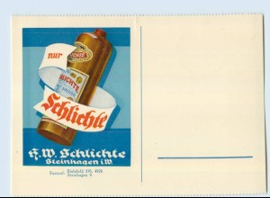W9K40/ Schlichte Steinhäger Werbe AK Steinhagen ca.1935