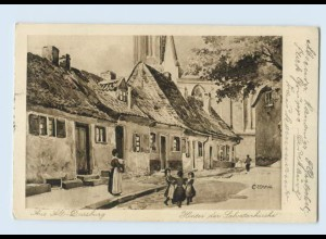 U8138/ Alt-Duisburg Hinter der Salvatorkirche AK 1918
