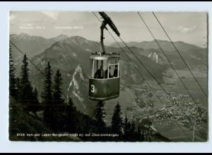 W9K66/ Seilbahn Laber Bergbahn Oberammergau AK 1961