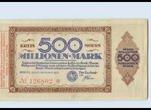 C658-4130/ Moers 500 Millionen Mark Notgeld AK 1923