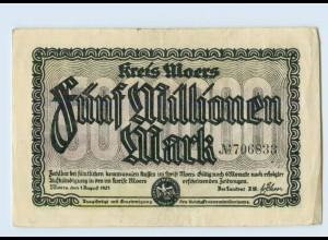 C656-4130/ Moers 5 Millionen Mark Notgeld AK 1923