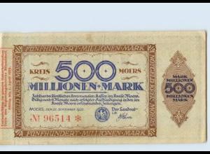 C655-4130/ Moers 500 Millionen Notgeld AK 1923