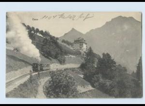 E358/ Caux Bergbahn AK 1913 Schweiz