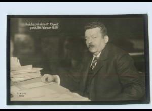 DP09/ Reichspräsident Ebert gestorben 1925 Trauer Foto AK