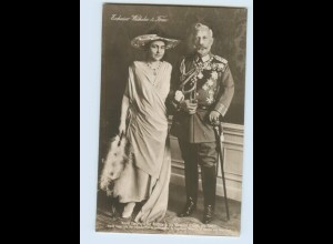 DP01/ Kaiser Wilhelm in Uniform und Kaiserin Foto AK ca.1925