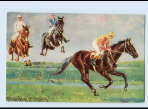 W9L25/ Pferderennen Jockey Künstler AK Donadini jr. 1917