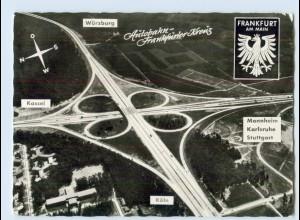 D244/ Autobahn Frankfurter Kreuz Luftbild AK 1961