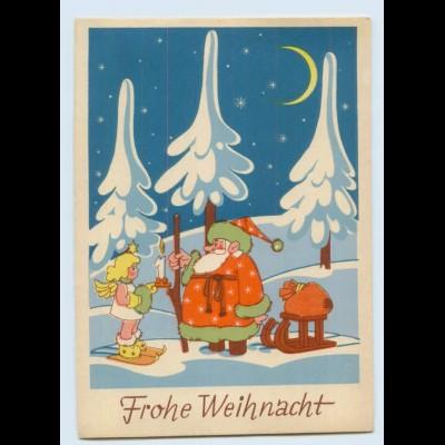 DP05/ Weihnachten Weihnachtsmann Engel schöne AK ca.1940-50