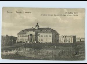 D743/ Zemun Zimony Belgrad Serbien AK Rotes Kreuz Spital 1917