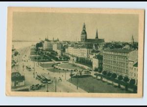 D968/ Riga Lettland Der Dünakai Straßenbahn AK ca.1938