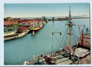 E205/ Bourgas Hafen Bulgarien AK 1962