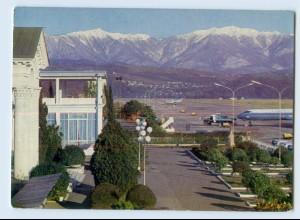 W9O17/ Sotschi Flughafen Airport Russland AK 1976