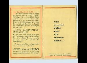 E207/ Schreibmaschine L.C. Smith & Bros. Werbung 1925