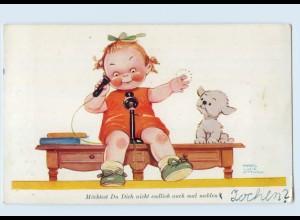 W9Q05/ Mabel Lucie Attwell Kind mit Telefon Primus AK ca.1930