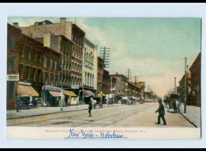E461/ Hoboken N.J. Washington Street USA AK ca.1905