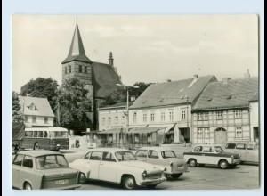 E672/ Strasburg Markt mit Kirche AK Autos Trabi