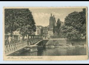 W9U46/ Alt-Plauen Brücke AK ca.1935